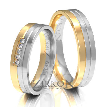 Obrączki ślubne złote • X039