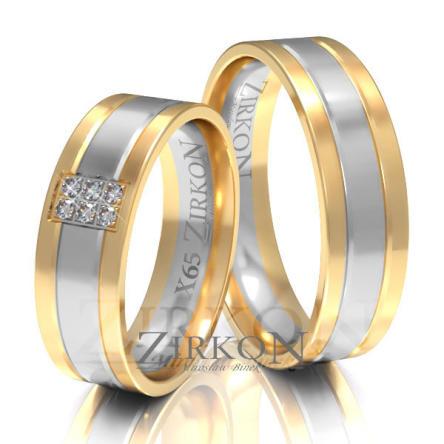 Obrączki ślubne złote • X065
