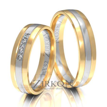 Obrączki ślubne złote • X052