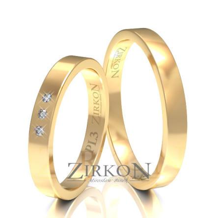 Obrączki ślubne złote • PL3S
