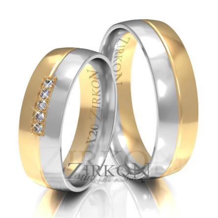 Obrączki ślubne złote • X020